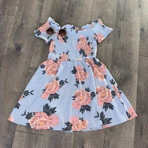 LA Hearts Off The Shoulder Smocked Dress